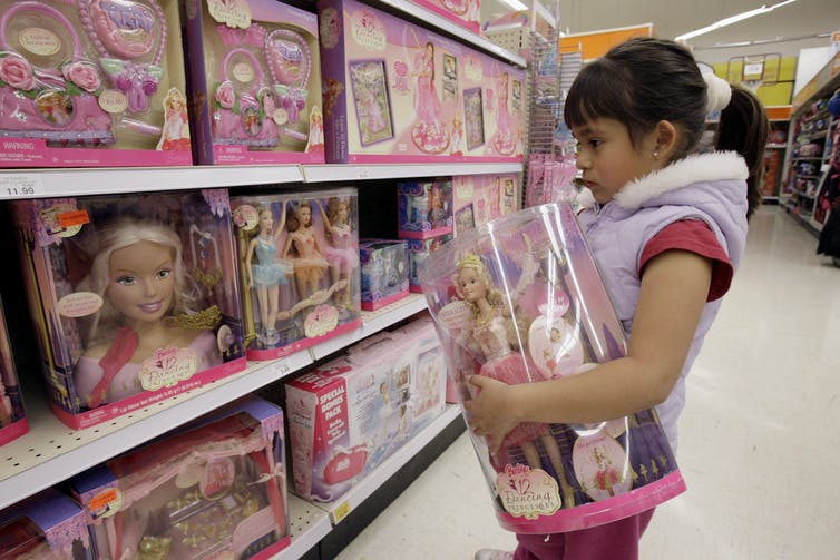 Pink girl toys