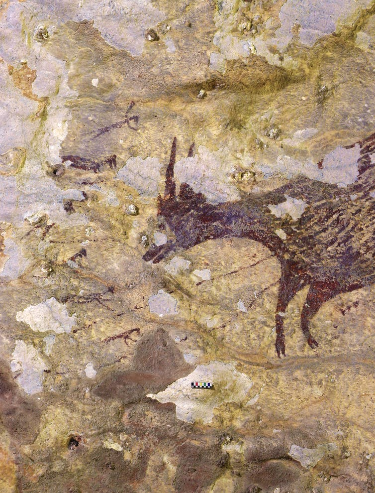 Indonesian cave paintings show the dawn of imaginative art and human spiritual belief