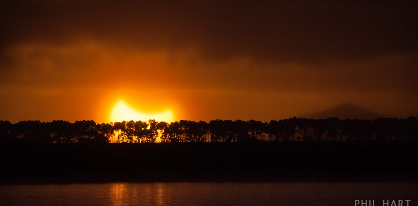 Watch the Moon hide the Sun from northern Australia