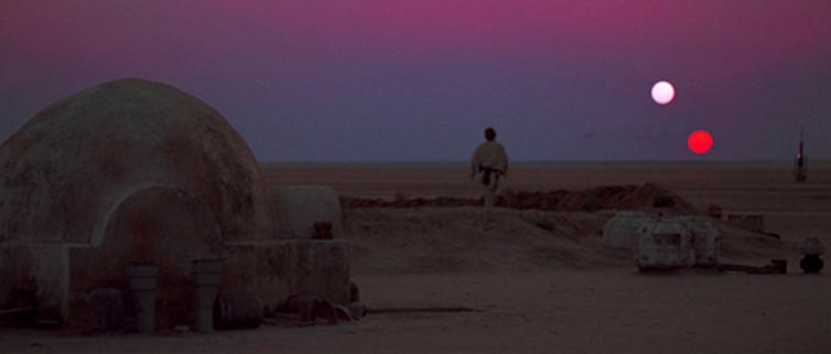 Tattooine is the desert planet on which Luke Skywalker grew up