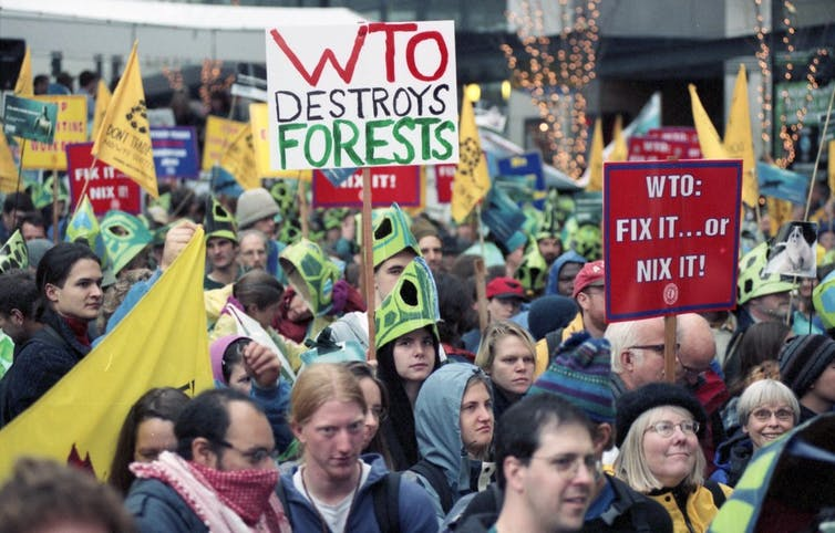 Protests against the WTO shook Seattle in 1999