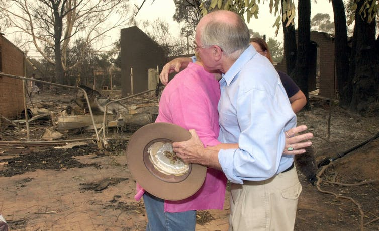 How should leaders respond to disasters? Be visible, offer real comfort – and don't force handshakes