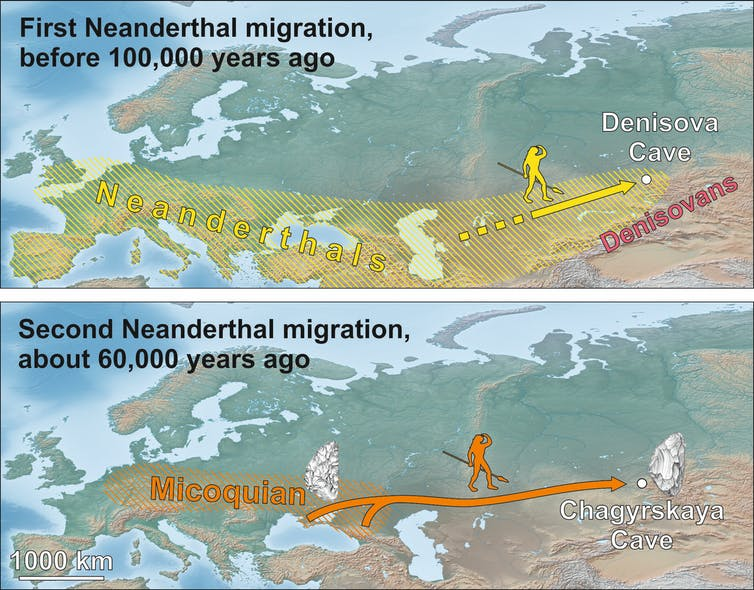 Stone tools reveal epic trek of nomadic Neanderthals