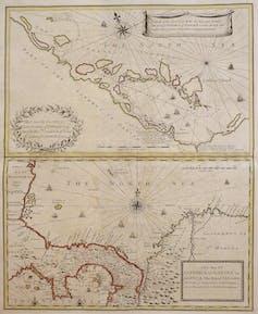 Mapa del Istmo de Darién (hoy Panamá) de 1699.Wikimedia Commons