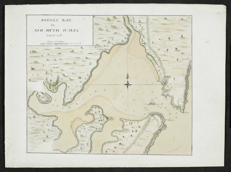 how Botany Bay was chosen over Africa as a new British penal colony