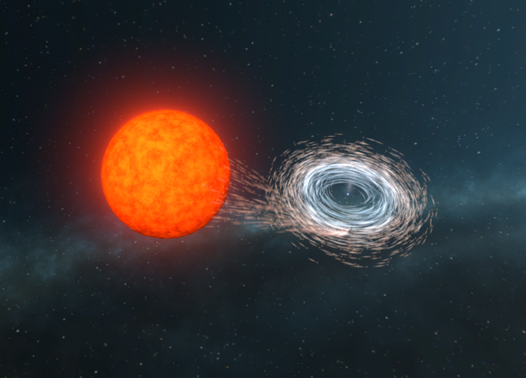 we've observed a spinning star that drags the very fabric of space and time