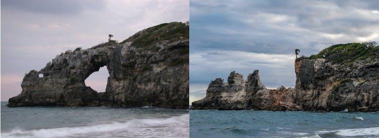 punta ventana before and after earthquake