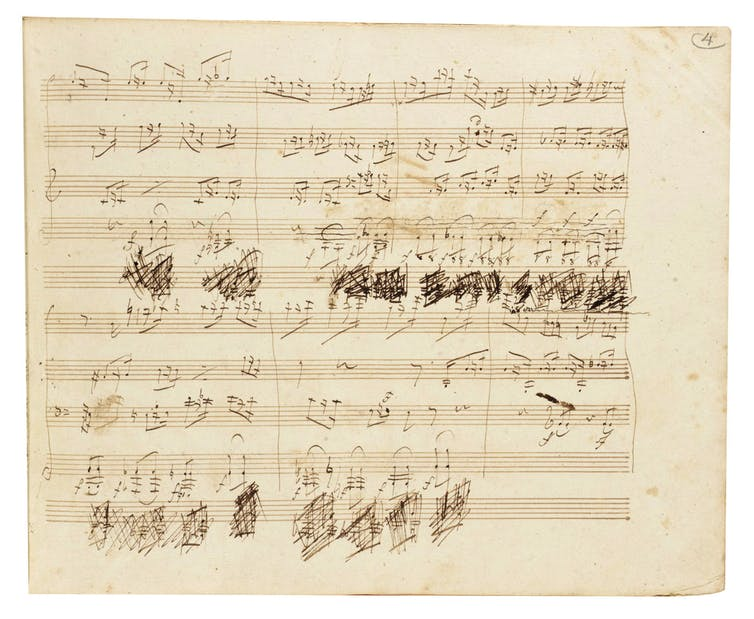 Beethoven's working manuscript of Grosse Fuge