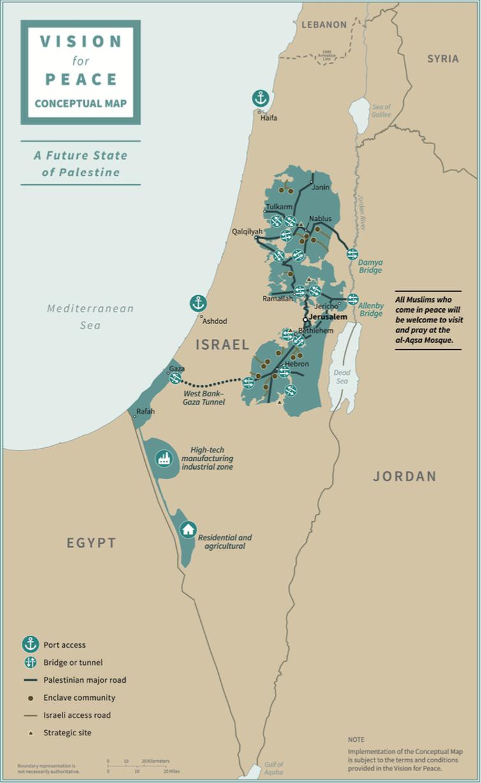 « Un futur Etat palestinien». Plan de paix de Donald Trump. Whitehouse.gov