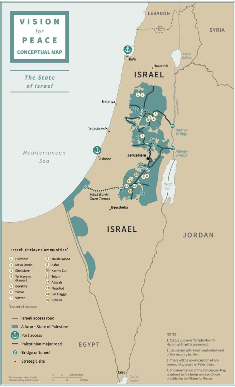 « L'Etat d'Israël ». Plan de paix de Donald Trump. Whitehouse.gov