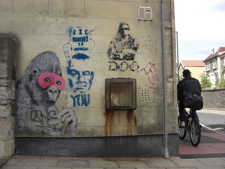 Banksy's Masked Gorilla artwork in Bristol was hit by vandals.