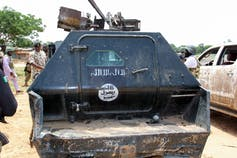 Damaged Armoured Personnel Carrier