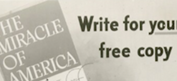 One of the Ad Council's messages about capitalism in America