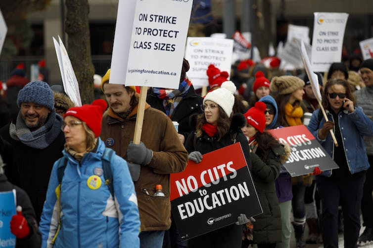 A largely female teaching force is standing up for public education
