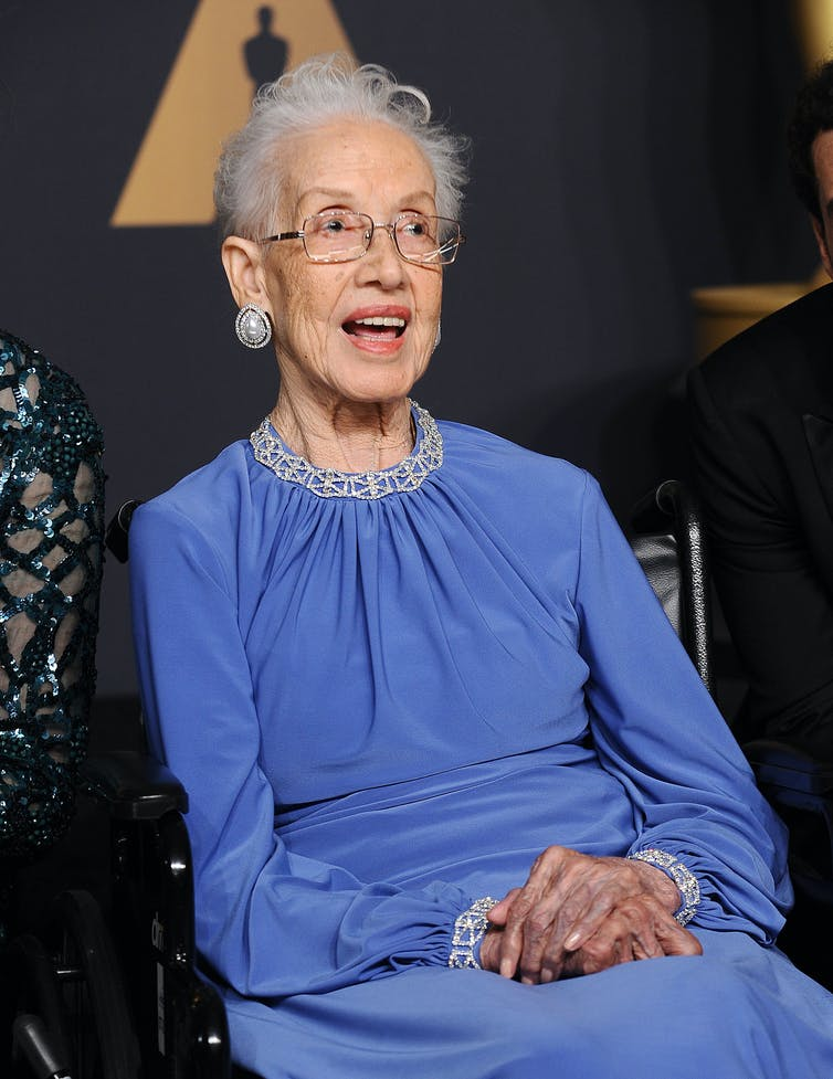Surely a hero of hope – NASA mathematician Katherine Johnson at the 89th Academy Awards, February 2017. Getty Images / Jason LaVeris / FilmMagic