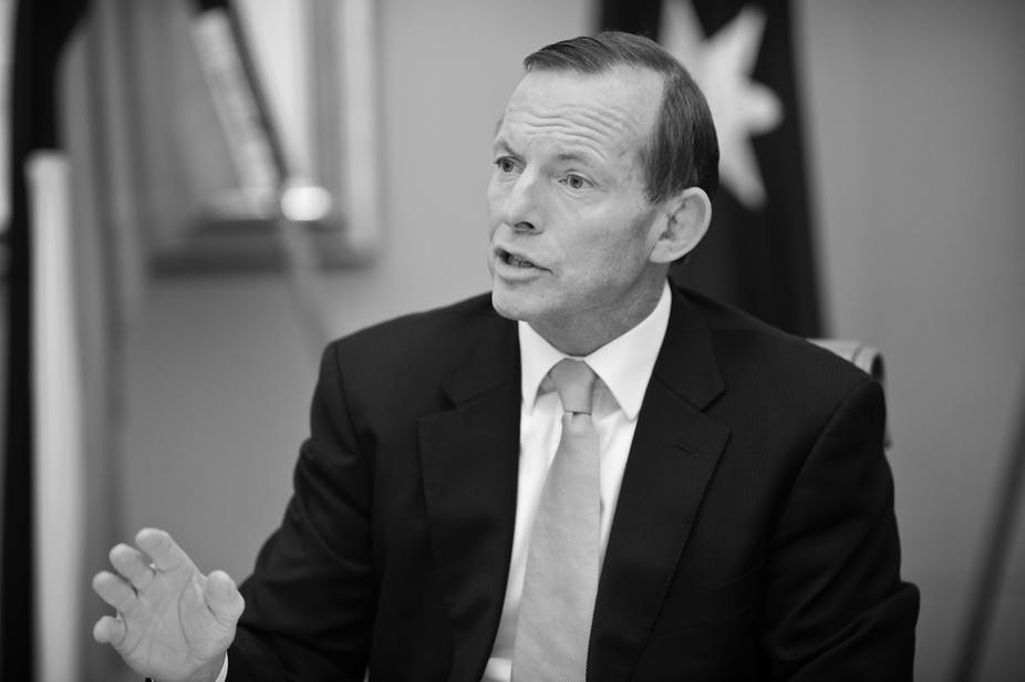 Tony Abbott Is Seeking To Define The Terms In Which His Government Will Be Understood By Public AAP Lukas Coch