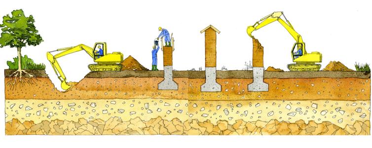 Cycle de vie de la terre crue : extraction, construction, utilisation, démolition et recyclage. Arnaud Misse