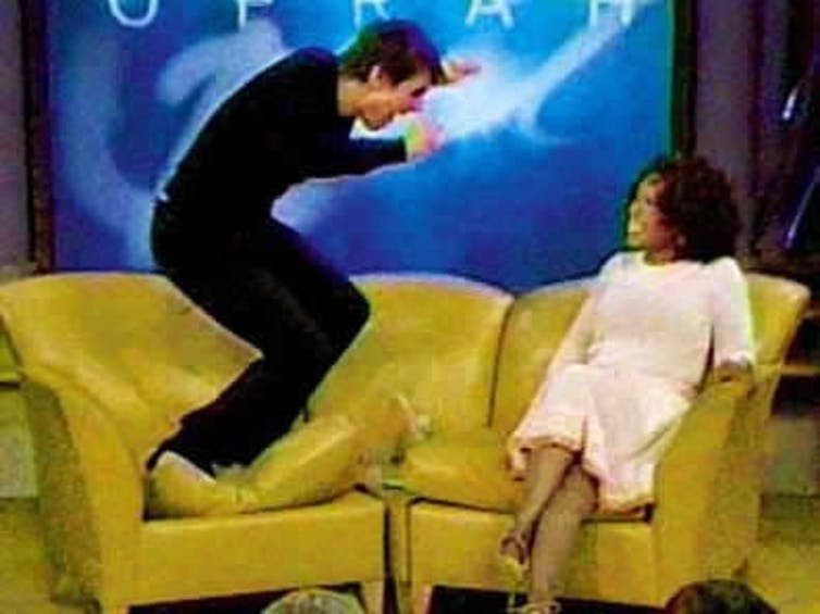 In 2005, Tom Cruise jumped on Oprah's couch. The moment became a cultural touchstone – and the image became a meme.Know Your Meme