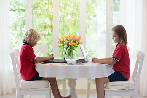 Schools are moving online, but not all children start out digitally equal