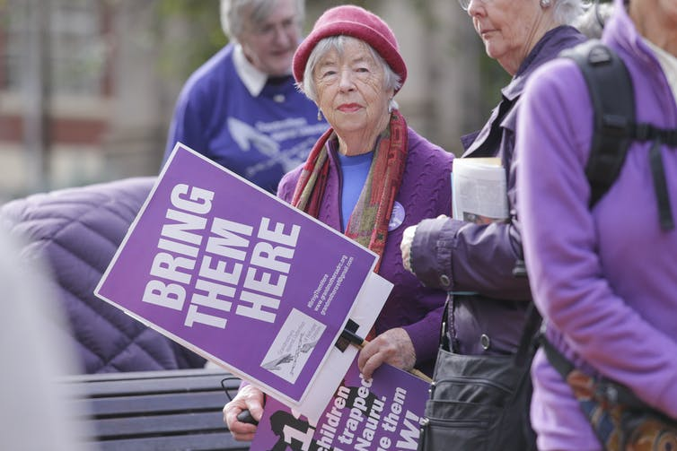 today's grandmothers grew up protesting. Now they have nothing to lose