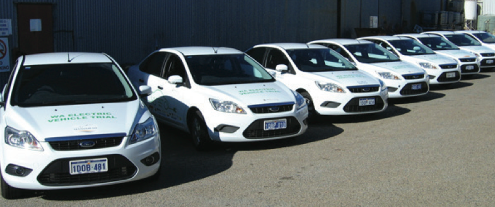 Fleet Of Electric Ford Focus