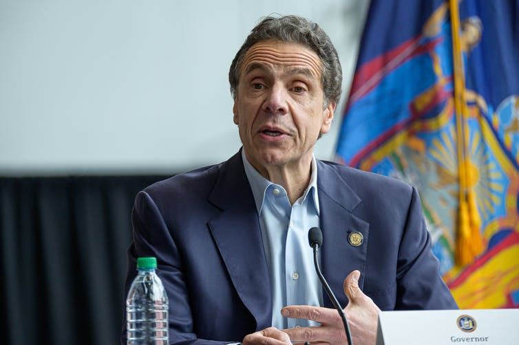 New York Gov. Andrew Cuomo has become a prominent face of the response to the coronavirus. Getty/Albin Lohr-Jones/Pacific Press/LightRocket