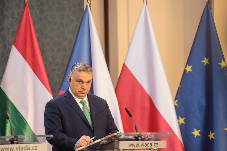 Orban is using coronavirus to maximize his power. MICHAL CIZEK/AFP via Getty Images