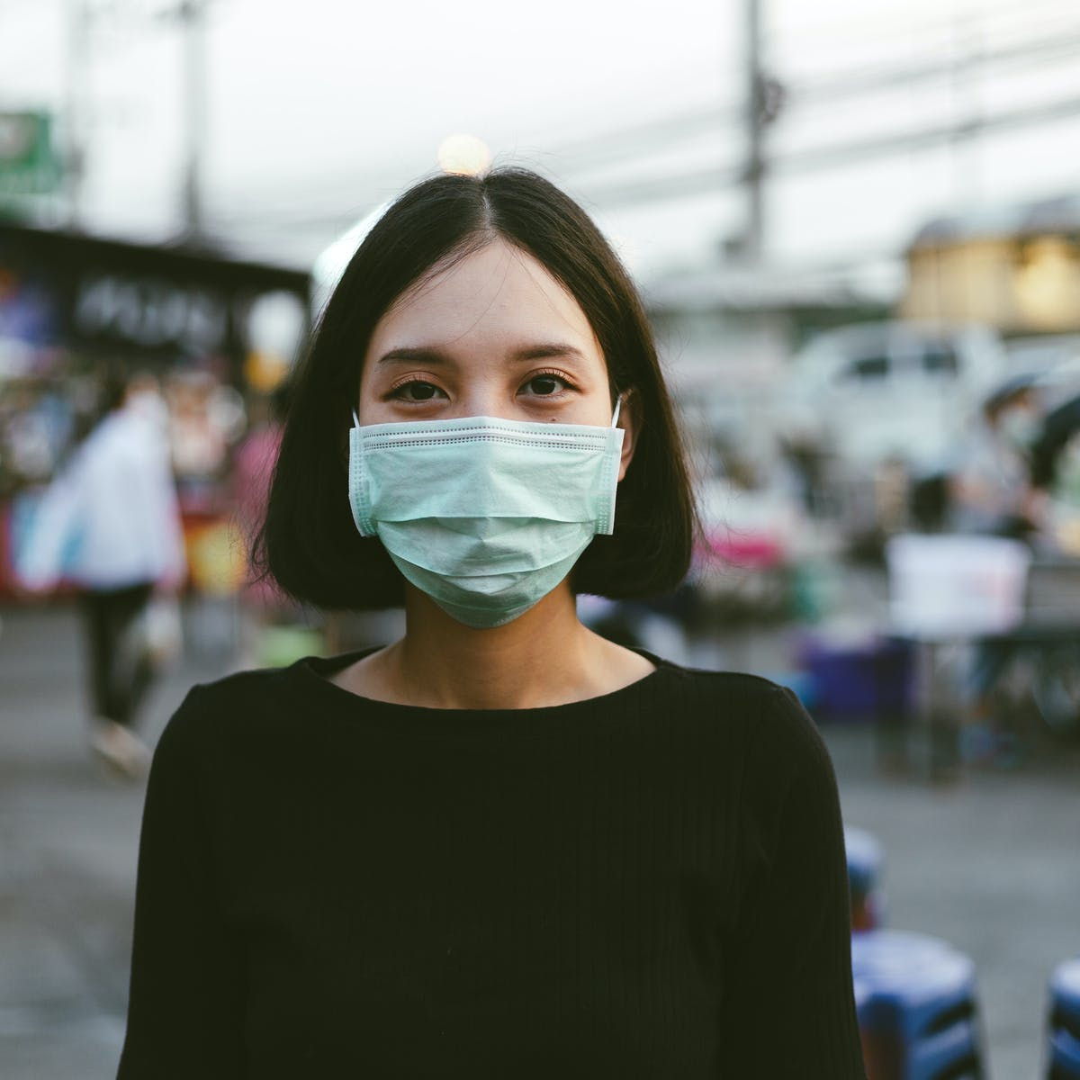 dark green premium non medical mask