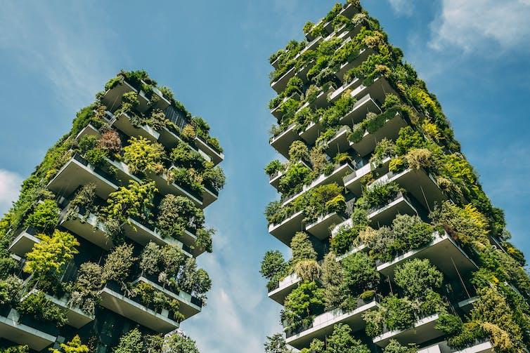 The Bosco Verticale (Vertical Forest) in Milan, designed by Stefano Boeri (Photo: Sabino Parente/Shutterstock)