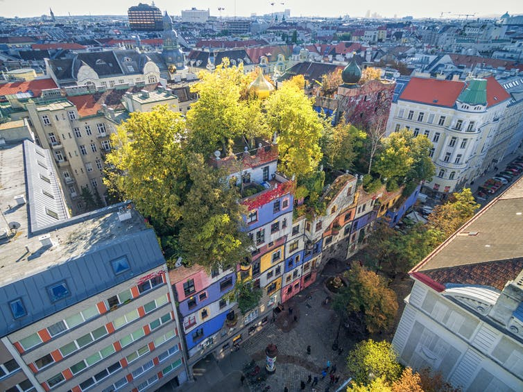The Hundertwasserhaus in Vienna, designed by Friedensreich Hundertwasser (Photo: photosounds/Shutterstock)