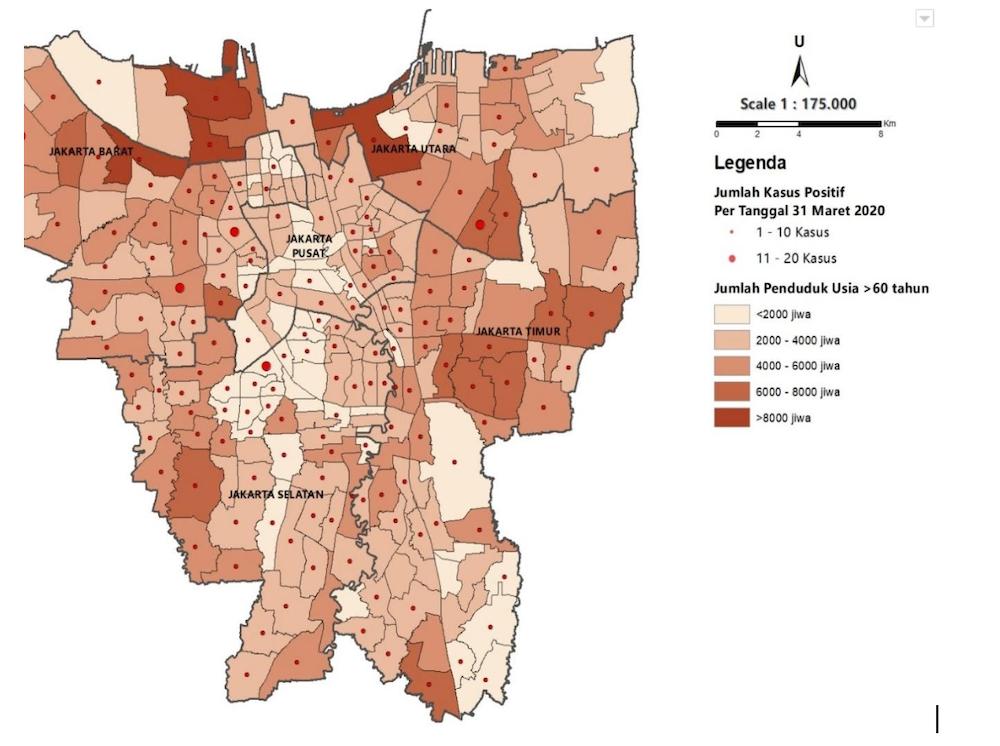 Riset Spasial Ungkap Risiko Penyebaran Coronavirus Level Kelurahan Dan Pasar Tradisional Di Jakarta