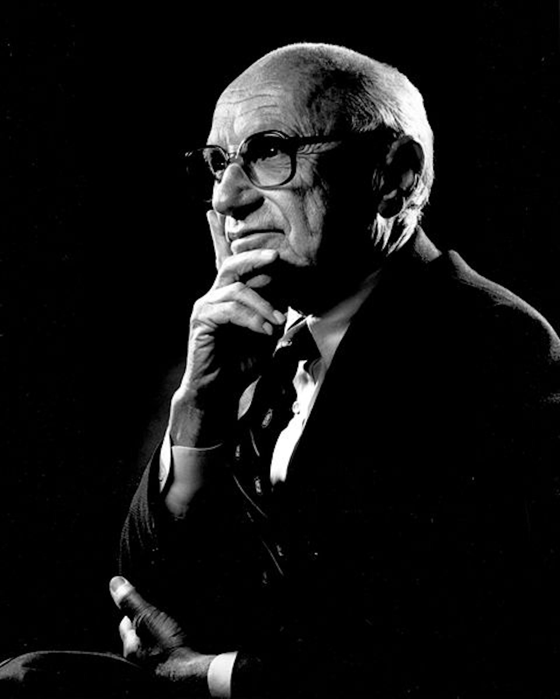 Milton Friedman, en 2004. RobertHannah89/Wikimedia, CC BY