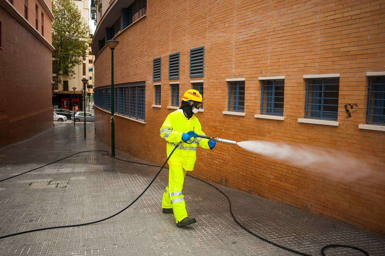 Sanitising the city: does spraying the streets work against coronavirus?