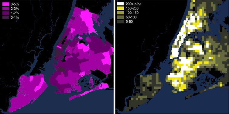 As coronavirus forces us to keep our distance, city density matters less than internal density