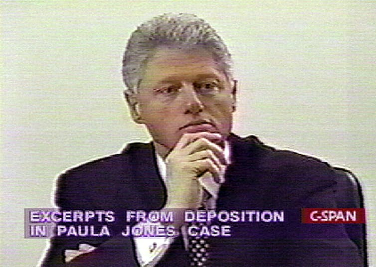 President Bill Clinton fought against being deposed in the Paula Jones sexual discrimination suit; he lost and had to comply. Getty/AFP