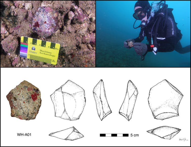 In a first discovery of its kind, researchers have uncovered an ancient Aboriginal archaeological site preserved on the seabed