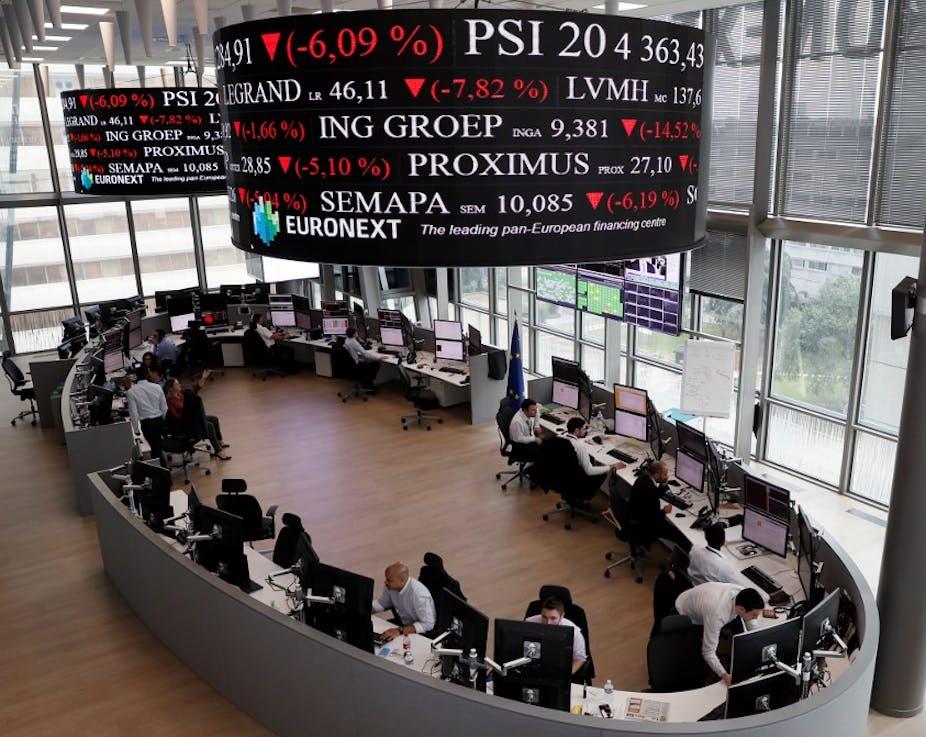 Stock market figures.