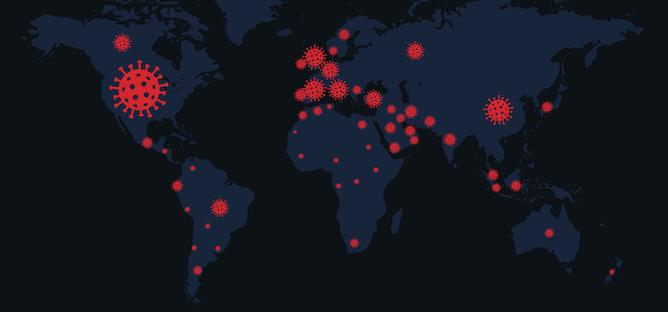 Les pays du monde face au coronavirus