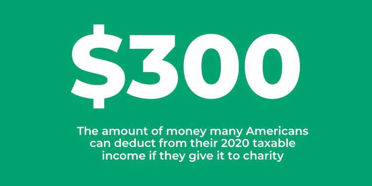 A $300 charitable deduction, explained