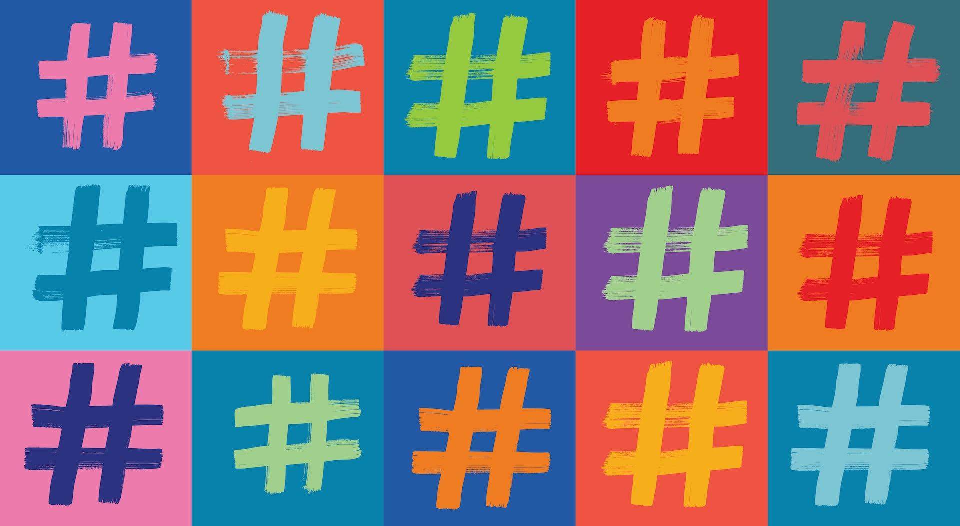 ¿Es la ortografía compatible con los 'hashtags'?