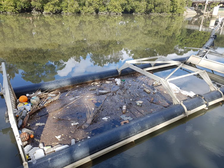 after a storm, microplastic pollution surged in the Cooks River