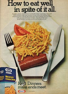 Ad for Kraft Macaroni & Cheese Dinner
