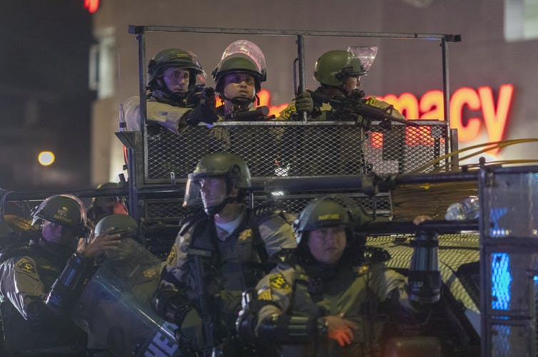 Militarization has fostered an American  policing culture that sets up protesters as 'the enemy'