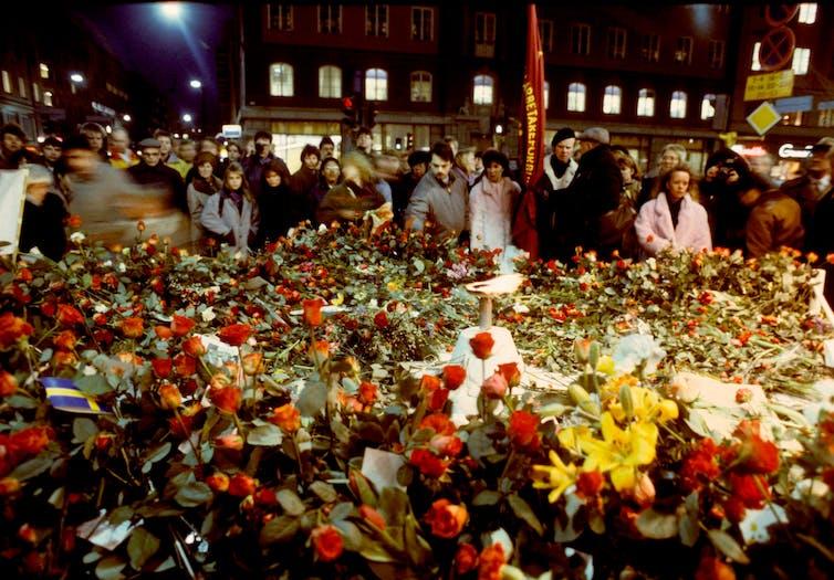 Sweden's prime minister murder place in Stockholm
