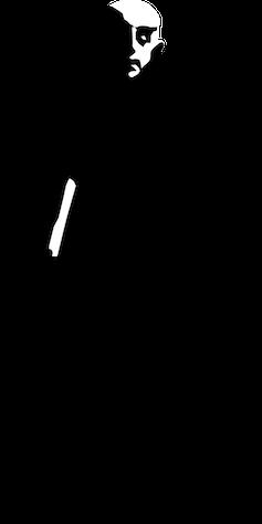 Outline of Nosferatu in black against white