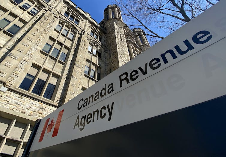 The Canada Revenue Agency would play a central role in a permanent basic income program. THE CANADIAN PRESS/Adrian Wyld