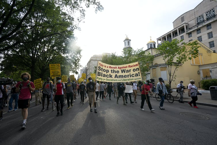 Black Lives Matters protesters in Washington D.C. AAP/Sipa USA/CNP