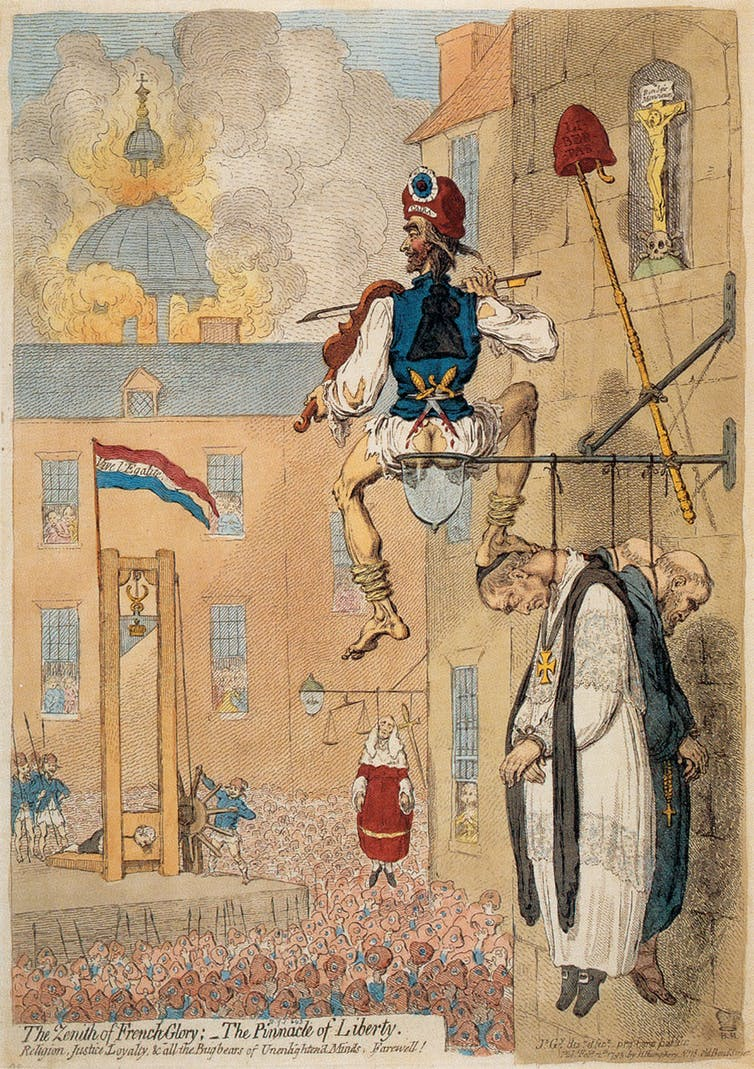 The Zenith of French Glory (1793) by James Gillray. British Museum