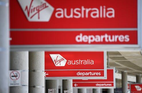 Virgin Austrlia departure lounge.
