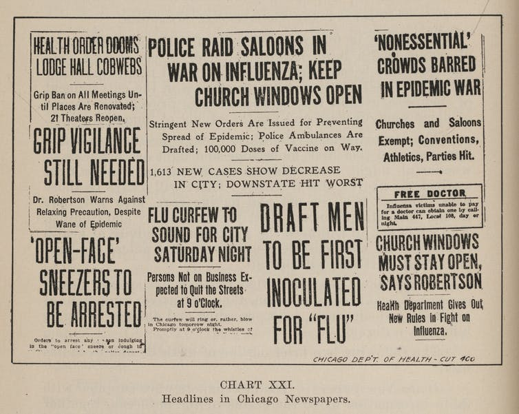 Mask resistance during a pandemic isn't new – in 1918 many ...